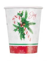 Candy Cane Christmas Paper Cups (8)